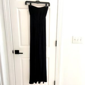 Hourglass Lilly Black Strapless Maxi